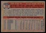 1957 Topps #38  Nellie Fox  Back Thumbnail