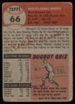 1953 Topps #66  Orestes Minnie Minoso  Back Thumbnail