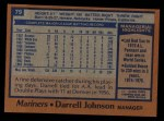 1978 Topps #79  Darrell Johnson  Back Thumbnail