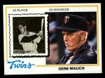 1978 Topps #601  Gene Mauch  Front Thumbnail