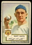 1952 Topps #230  Matt Batts  Front Thumbnail