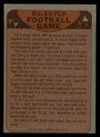 1974 Topps  Checklist   Lions Back Thumbnail