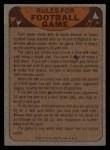 1974 Topps Football Team Checklists #26   Redskins Team Checklist Back Thumbnail