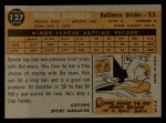 1960 Topps #127   -  Ron Hansen Rookie Star Back Thumbnail