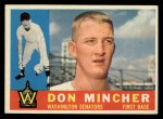 1960 Topps #548  Don Mincher  Front Thumbnail