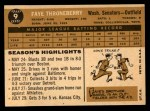 1960 Topps #9  Faye Throneberry  Back Thumbnail