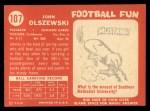 1958 Topps #107  John Olszewski  Back Thumbnail