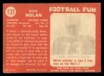 1958 Topps #131  Dick Nolan  Back Thumbnail
