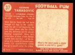 1958 Topps #37  George Tarasovic  Back Thumbnail