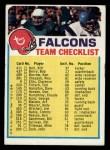 1973 Topps Football Team Checklists #1   Atlanta Falcons Front Thumbnail