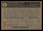 1952 Topps #15  Johnny Pesky  Back Thumbnail