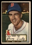 1952 Topps #15 BLK Johnny Pesky  Front Thumbnail