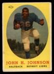 1958 Topps #75  John Henry Johnson  Front Thumbnail