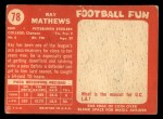 1958 Topps #78  Ray Mathews  Back Thumbnail