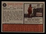 1962 Topps #27  Chuck Cottier  Back Thumbnail
