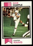 1973 Topps #190  Dave Chapple  Front Thumbnail