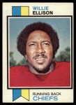 1973 Topps #205  Willie Ellison  Front Thumbnail
