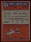 1973 Topps #369  Dave Edwards  Back Thumbnail