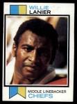 1973 Topps #410  Willie Lanier  Front Thumbnail
