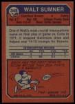 1973 Topps #348  Walt Sumner  Back Thumbnail
