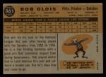 1960 Topps #361  Bob Oldis  Back Thumbnail