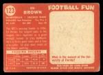 1958 Topps #123  Ed Brown  Back Thumbnail