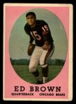 1958 Topps #123  Ed Brown  Front Thumbnail