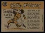 1960 Topps #554   -  Willie McCovey All-Star Back Thumbnail