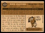 1960 Topps #233  Don Elston  Back Thumbnail
