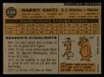 1960 Topps #339  Harry Chiti  Back Thumbnail