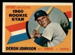 1960 Topps #134   -  Deron Johnson Rookie Star Front Thumbnail