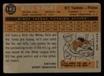1960 Topps #142   -  Bill Short Rookie Star Back Thumbnail