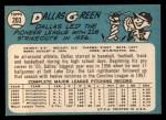 1965 Topps #203  Dallas Green  Back Thumbnail