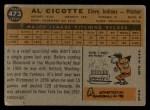 1960 Topps #473  Al Cicotte  Back Thumbnail