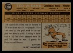 1960 Topps #146   -  Ted Wieand Rookie Star Back Thumbnail
