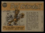 1960 Topps #568   -  Del Crandall All-Star Back Thumbnail