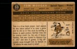 1960 Topps #33  Tom Morgan  Back Thumbnail