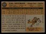 1960 Topps #337  Cal Neeman  Back Thumbnail