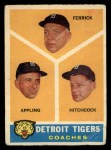 1960 Topps #461   -  Tom Ferrick / Luke Appling / Billy Hitchcock Tigers Coaches Front Thumbnail