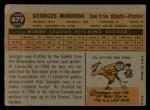 1960 Topps #479  Georges Maranda  Back Thumbnail