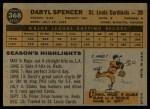1960 Topps #368  Daryl Spencer  Back Thumbnail