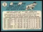 1965 Topps #36  Bobby Wine  Back Thumbnail