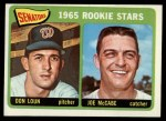 1965 Topps #181   -  Don Loun / Joe McCabe Senators Rookies Front Thumbnail