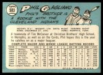 1965 Topps #503  Phil Gagliano  Back Thumbnail