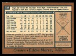 1978 O-Pee-Chee #154  Eddie Murray  Back Thumbnail