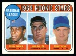 1969 Topps #641   -  Bobby Darwin / Tommy Dean / John Miller NL Rookies Front Thumbnail