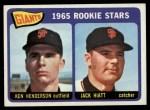 1965 Topps #497   -  Ken Henderson / Jack Hiatt Giants Rookies Front Thumbnail