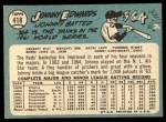1965 Topps #418  Johnny Edwards  Back Thumbnail
