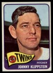 1965 Topps #384  Johnny Klippstein  Front Thumbnail
