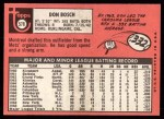 1969 Topps #578  Don Bosch  Back Thumbnail